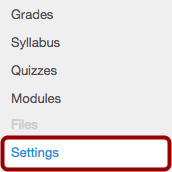 Locate Course Settings