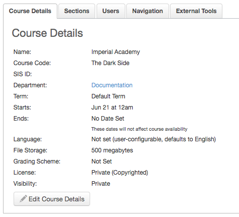 View Course Details