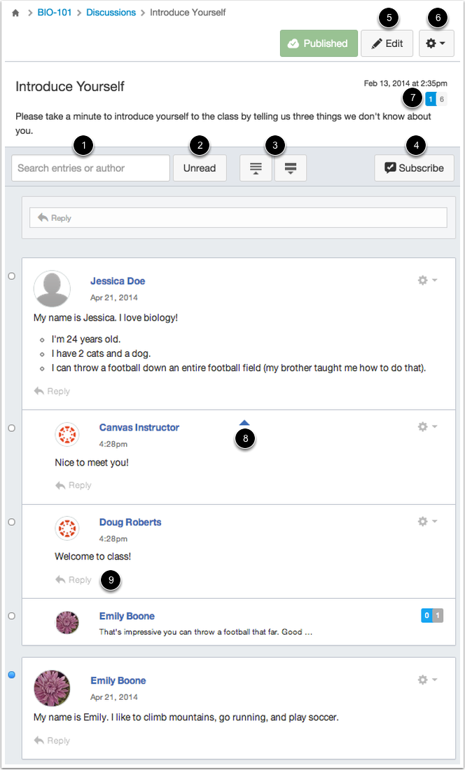 View Discussion Management Features