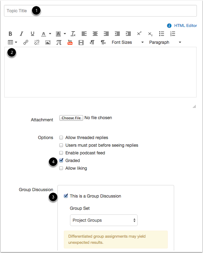 Create Group Discussion