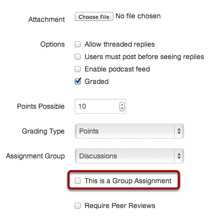 Add Groups to the Assignment