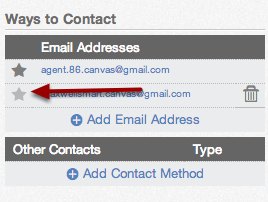 Choose Default Email Address