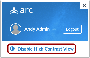 Disable High Contrast