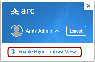 Enable High Contrast
