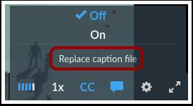 Replace Caption File