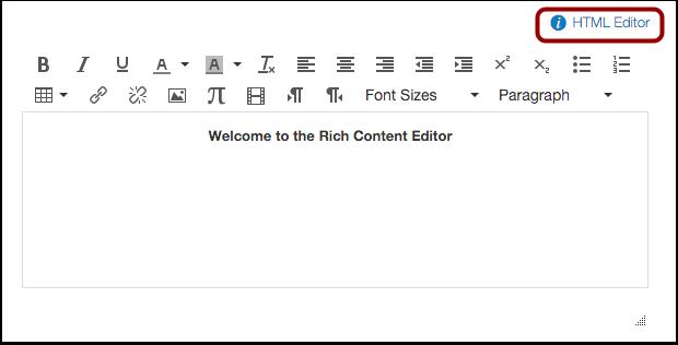 Open HTML Editor
