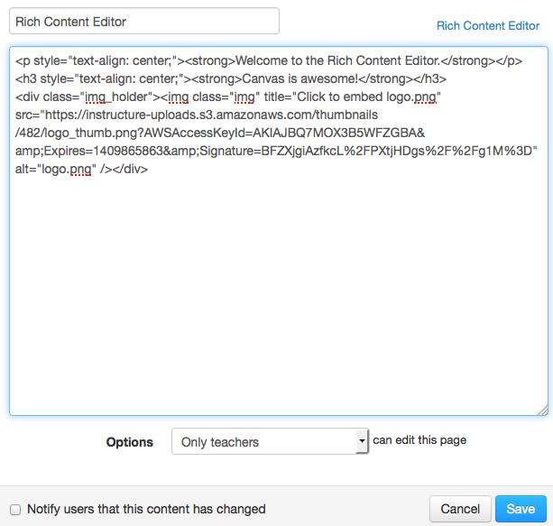 Edit Content