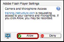 Allow Adobe Flash Player Access