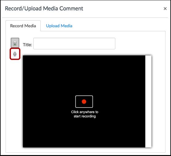 Select Audio Recording Option