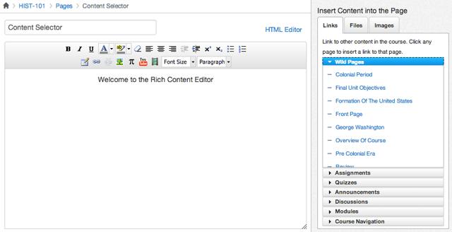 Locate Content Selector