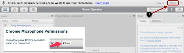 Chrome Microphone Permissions