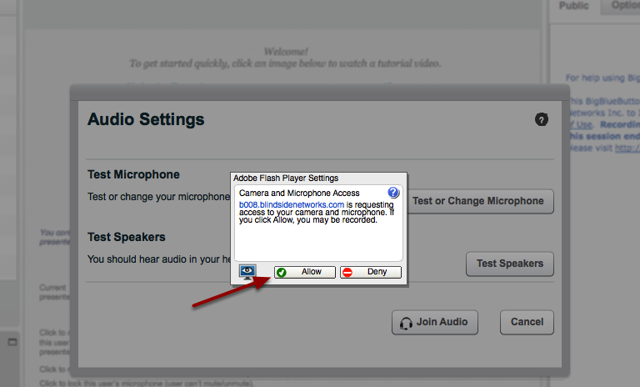 Accept Adobe Flash Player Settings