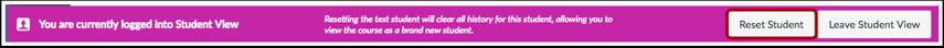 Reset Student
