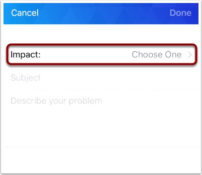 Choose Impact Level