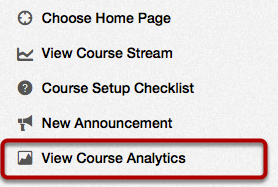 Option 1: Open Course Analytics