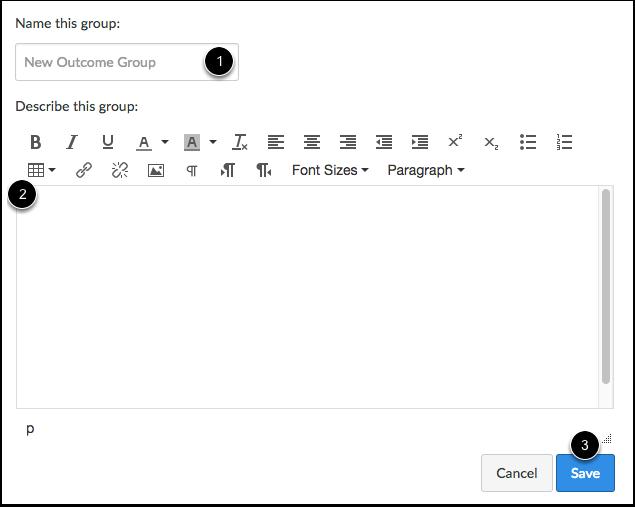 Create Outcome Group