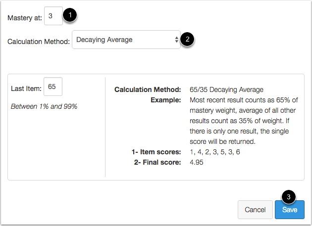 Set Mastery and Calculation Method