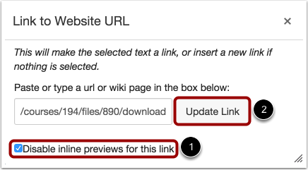 Disable Inline Preview