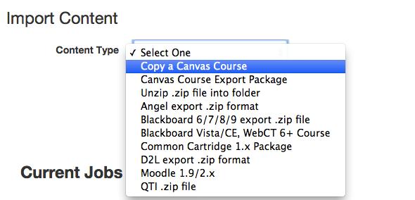 Copy a Canvas Course