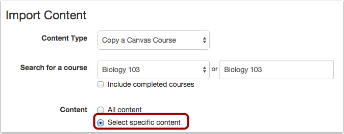 Select Specific Content