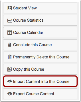 Import Content into Course