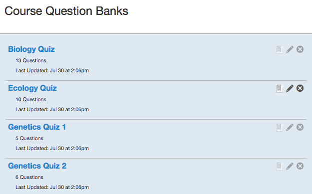 View Imported Question Bank