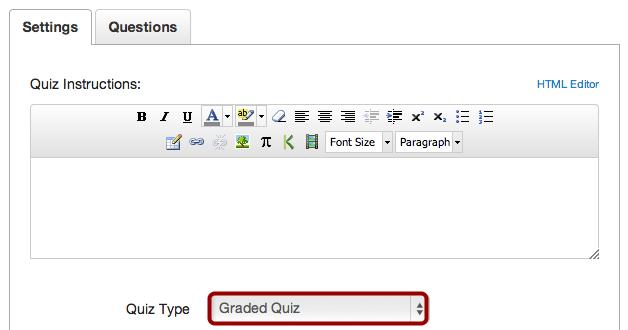 Select Quiz Type