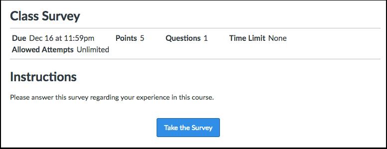 Take Survey