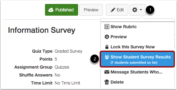 Show Student Survey Results
