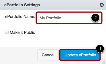 Change Name and Set Privacy