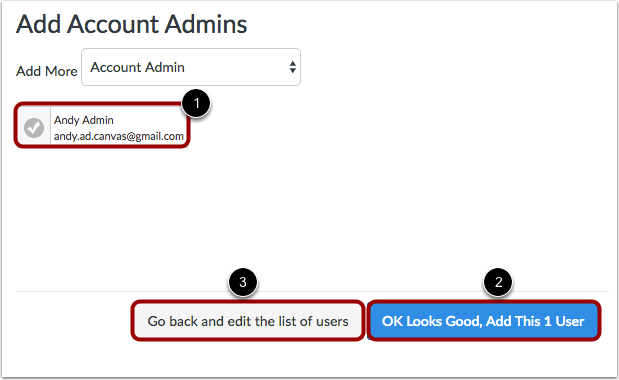 Add Account Admins