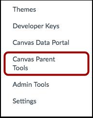 Open Canvas Parent Tools