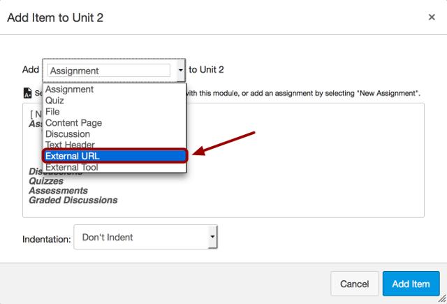 Add External URL