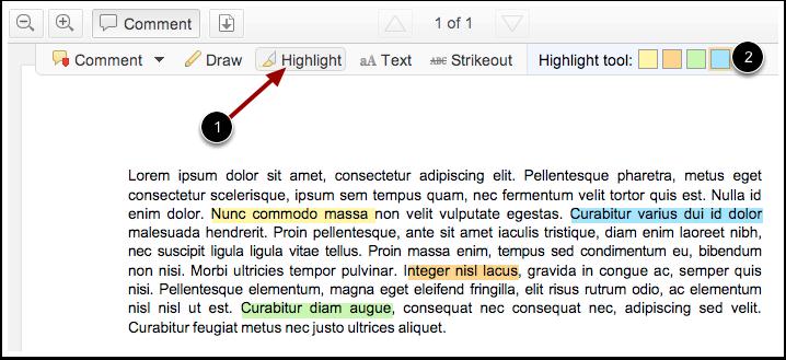 Use Highlight Tool
