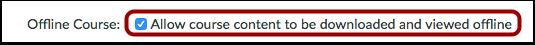 Enable Offline Content