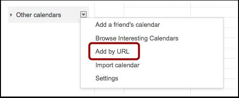 Add Other Calendars