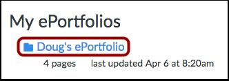 Open ePortfolio