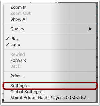 Select Settings