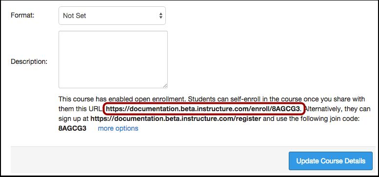 View Secret URL Self-Enrollment Option