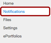 Open Notifications