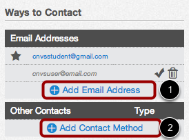 Add Ways to Contact