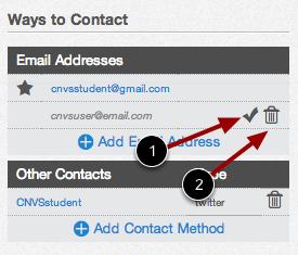 Edit Contact Methods