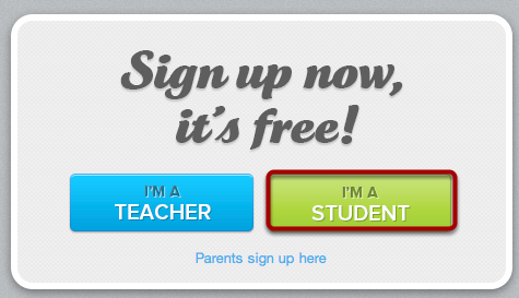 Sign Up As a Student