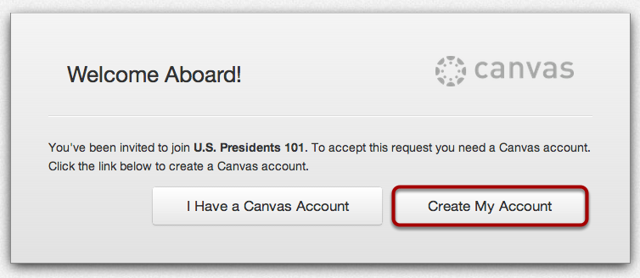 Create a Canvas Account