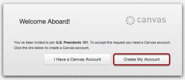 Create a Canvas Account