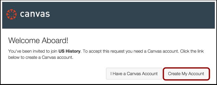 Create Canvas Account