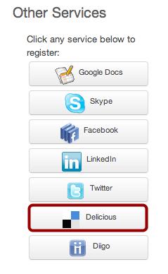 Register Delicious