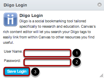 Login to Diigo