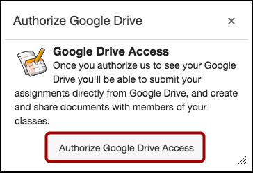 Authorize Google Drive