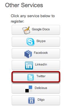 Register Twitter